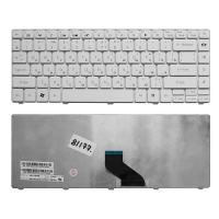 Клавиатура для ноутбука Packard Bell EasyNote NM85, NM87, NX86-JN, NX86-JO, Gateway NV49C Series. Плоский Enter. Белая, без рамки.  6037B0039201.
